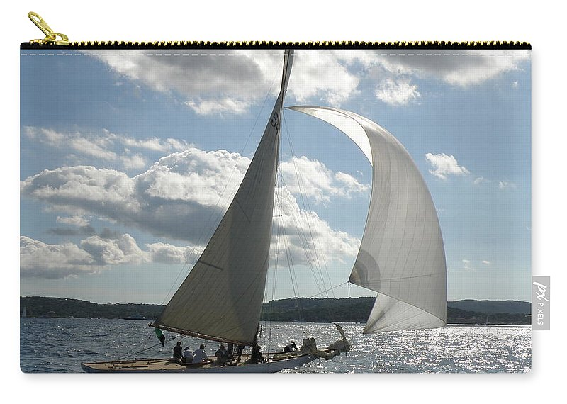 Sail Boat Carry-all Pouch featuring the photograph Heading Home by Lainie Wrightson
