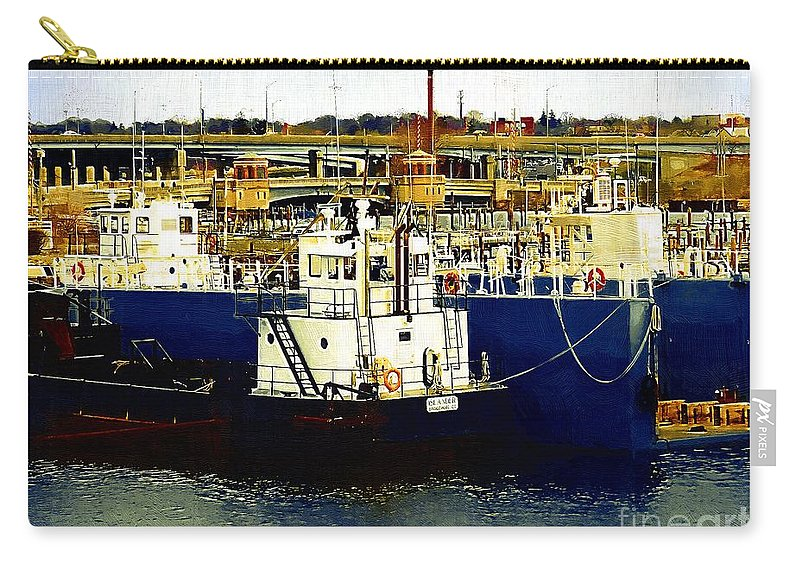 Boats Carry-all Pouch featuring the painting Heading Out Of The Harbor by RC DeWinter