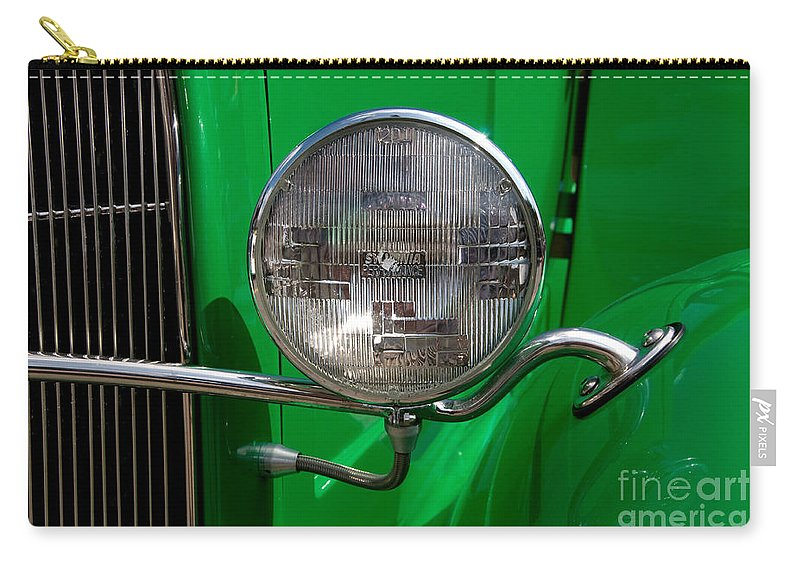 Headlight Carry-all Pouch featuring the photograph Headlight by Vivian Christopher