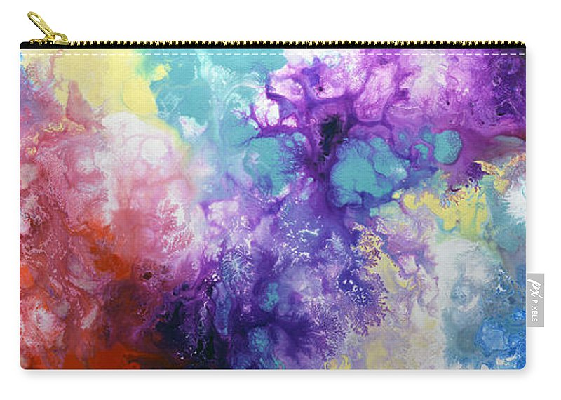 Rainbow Paintings Carry-all Pouch featuring the painting Healing Energies by Sally Trace