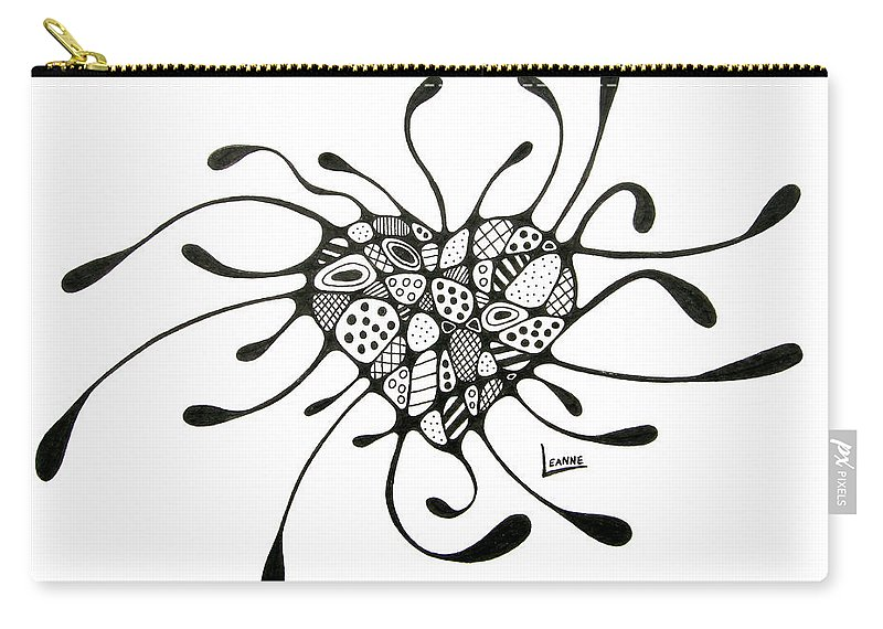 Heart Carry-all Pouch featuring the drawing Heart 2 by Leanne Karlstrom