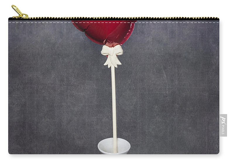 Red Carry-all Pouch featuring the photograph Heart Balloon by Joana Kruse