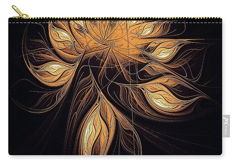 Digital Art Carry-all Pouch featuring the digital art Heart Of Gold by Amanda Moore