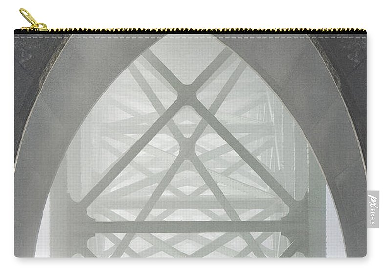 Bridge Carry-all Pouch featuring the photograph Heart Of The Newport Bridge by Sandra Bronstein