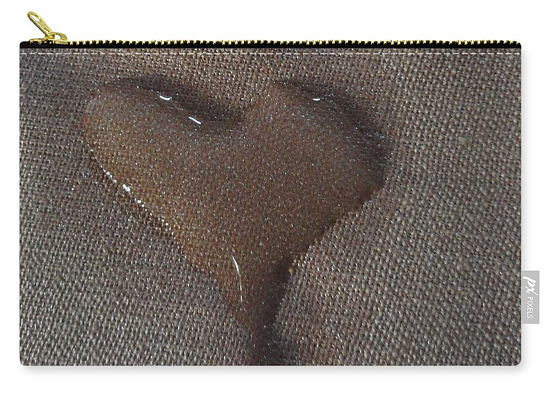 Heart Carry-all Pouch featuring the photograph Heart Shaped Tears by Shannon Grissom
