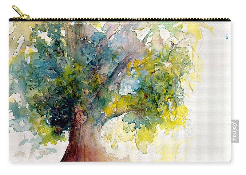 Tree Carry-all Pouch featuring the painting Heart Tree by CheyAnne Sexton