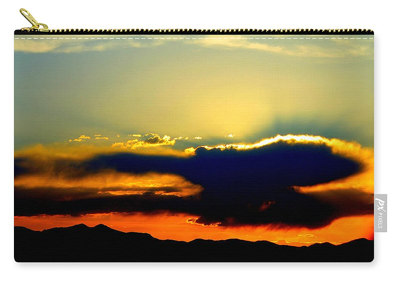 Sunset Carry-all Pouch featuring the photograph Heaven Is Watching by Jeanette C Landstrom