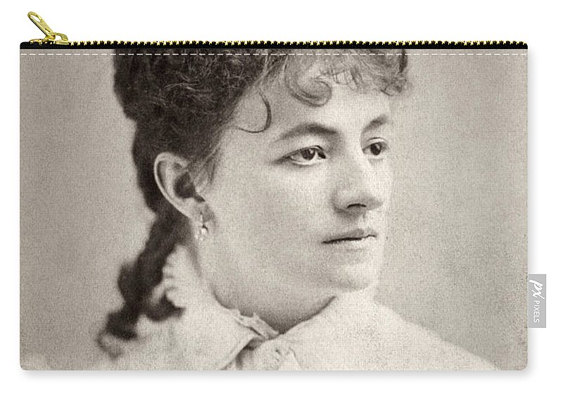 19th Century Carry-all Pouch featuring the photograph Helena Modjeska (1840-1909) by Granger