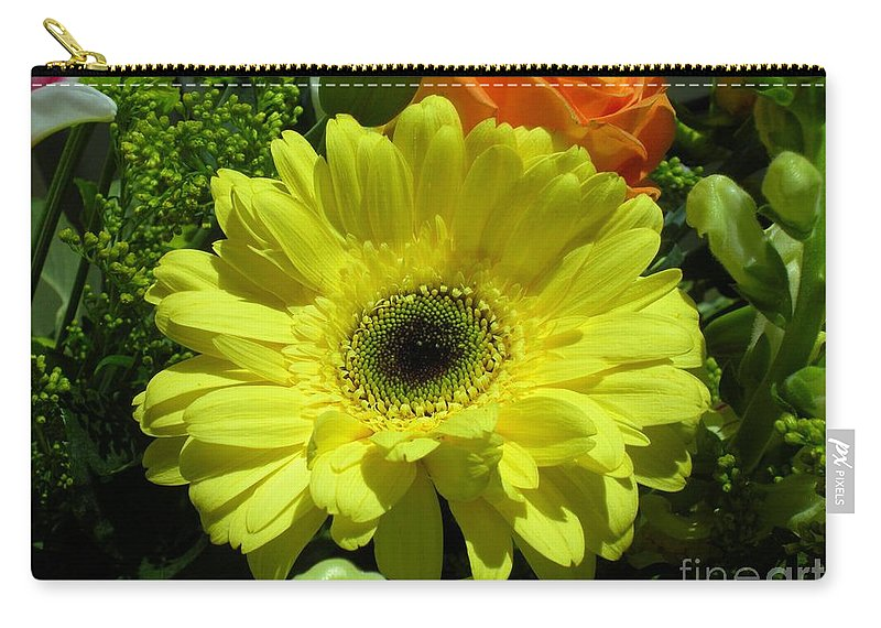 Plants Carry-all Pouch featuring the photograph Hello Sunshine by Maria Bonnier-Perez