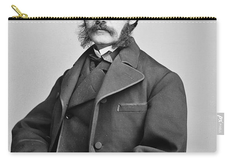 1850s Carry-all Pouch featuring the photograph Henry Jarvis Raymond by Granger