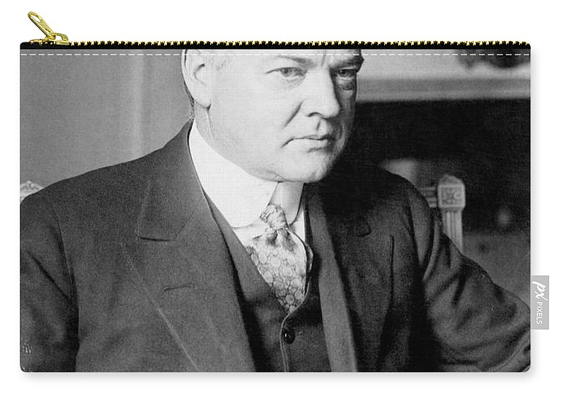 1928 Carry-all Pouch featuring the photograph Herbert Clark Hoover by Granger