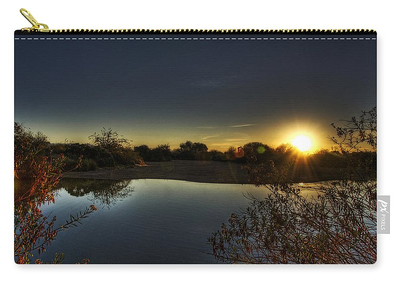 Sunrise Carry-all Pouch featuring the photograph Here Comes The Sun by Saija Lehtonen