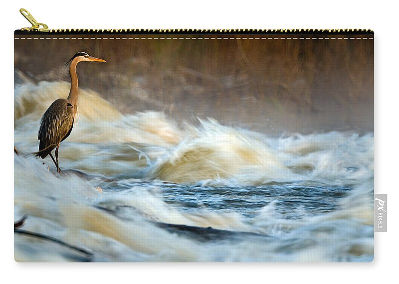 2007 Carry-all Pouch featuring the photograph Heron In Centaur Shute by Robert Charity