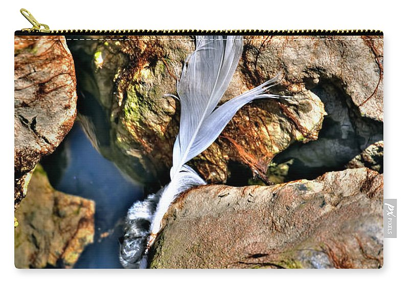 Carry-all Pouch featuring the photograph Hidden Images Vert by Michael Frank Jr
