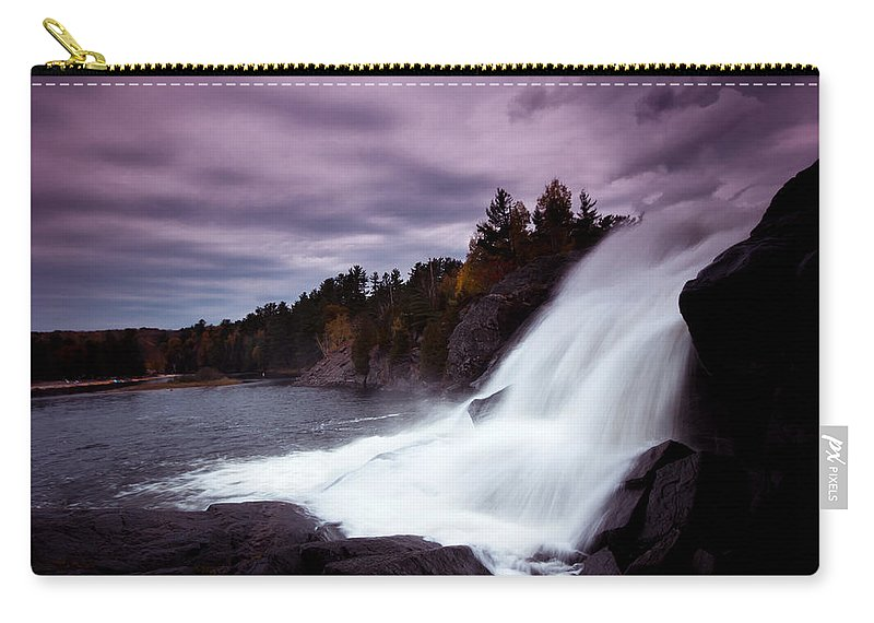 Bracebridge Carry-all Pouch featuring the photograph High Falls by Cale Best