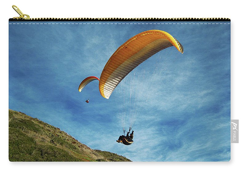 Gliders Carry-all Pouch featuring the photograph High Flyers by Lorraine Devon Wilke