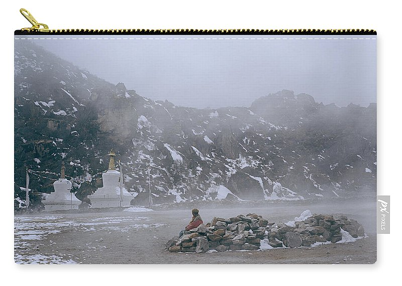 Himalayan Mountains Carry-all Pouch featuring the photograph High In The Himalayas by Shaun Higson