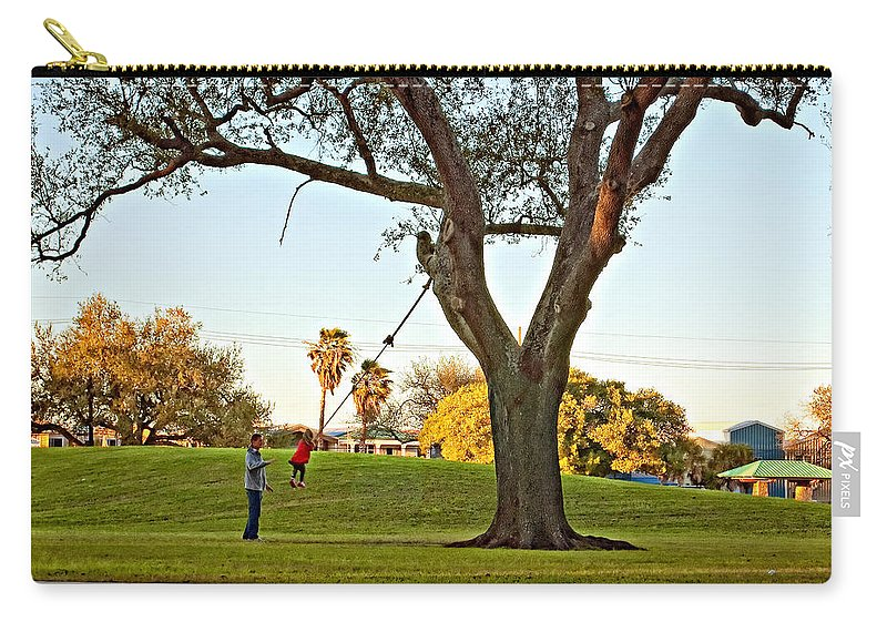 Swing Carry-all Pouch featuring the photograph Higher Daddy by Steve Harrington