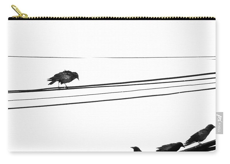Crows Carry-all Pouch featuring the photograph Higher Seven by The Artist Project