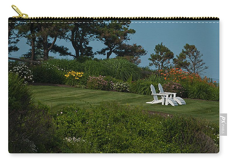 Adirondacks Carry-all Pouch featuring the photograph Hillside Adirondacks by Paul Mangold
