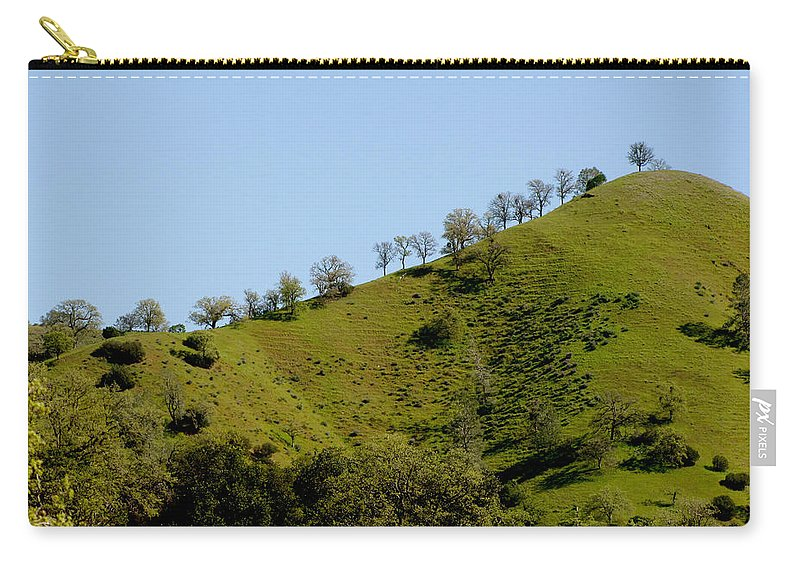 California Carry-all Pouch featuring the photograph Hilltop Lineup by Kathleen Grace