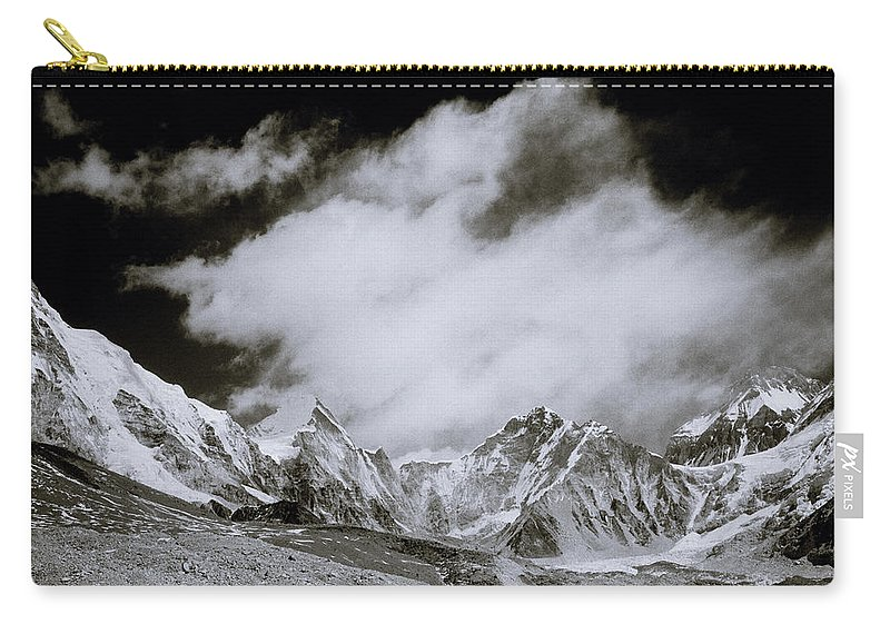 Dramatic Landscape Carry-all Pouch featuring the photograph Himalayan Mountain Range by Shaun Higson