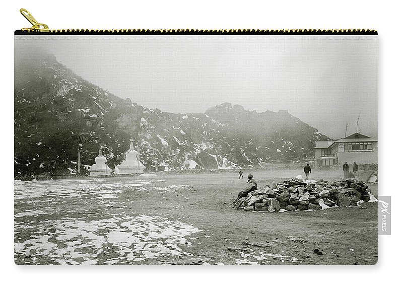 Himalayan Carry-all Pouch featuring the photograph Himalayan Weather by Shaun Higson