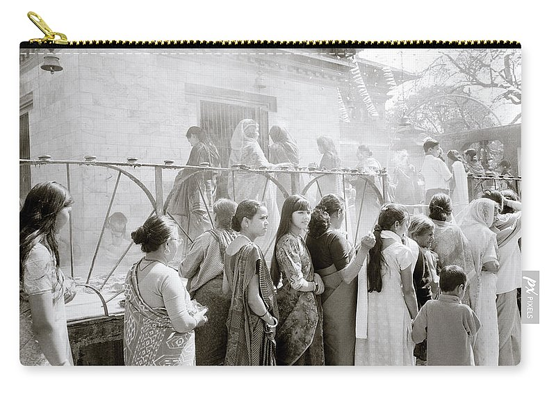 Nepali Carry-all Pouch featuring the photograph Hindu Festival In Kathmandu by Shaun Higson