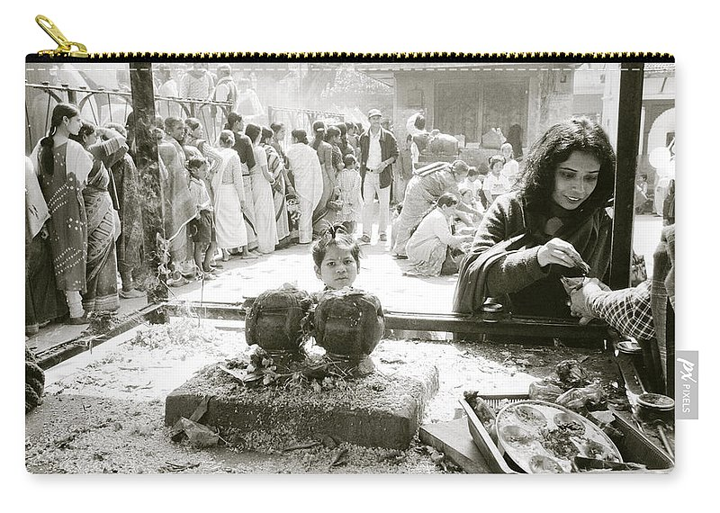 Nepali Carry-all Pouch featuring the photograph Hindu Festival by Shaun Higson