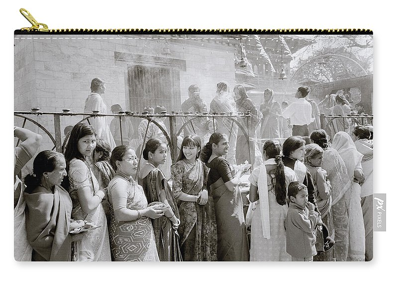 Nepali Carry-all Pouch featuring the photograph Hindu Pilgrims by Shaun Higson