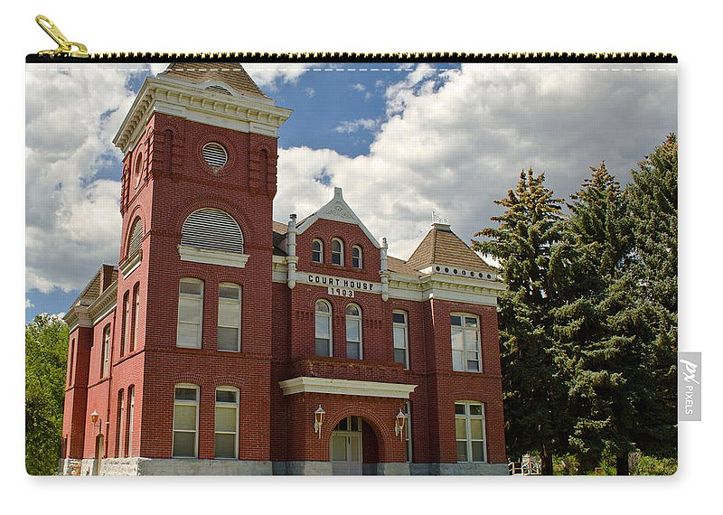 Courthouse Carry-all Pouch featuring the photograph Historic Courthouse Marysvale Utah by Donna Greene