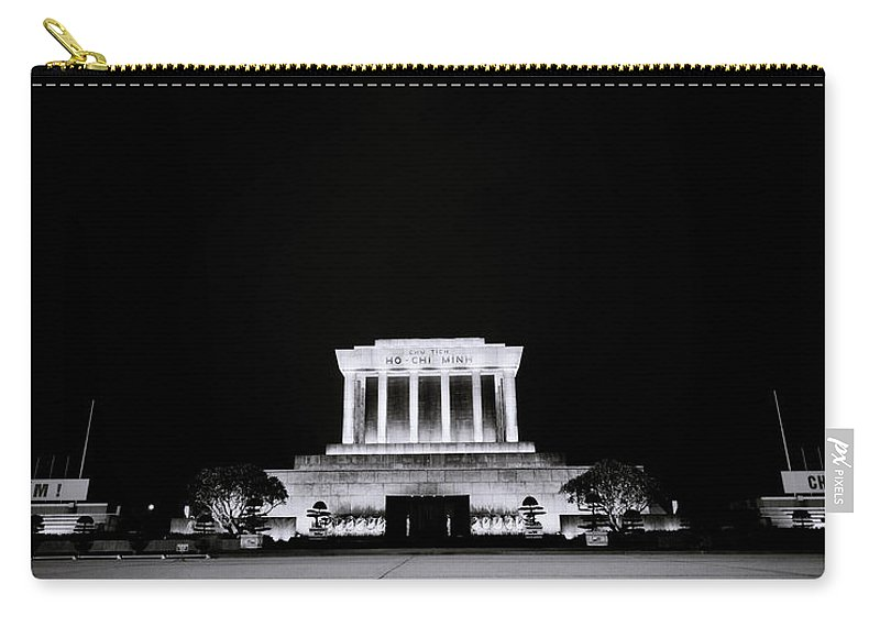 Hanoi Carry-all Pouch featuring the photograph Ho Chi Minh Memorial At Night by Shaun Higson