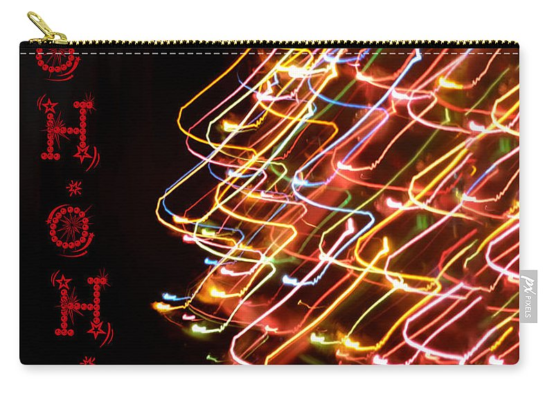 Christmas Carry-all Pouch featuring the photograph Ho Ho Ho by Bill Cannon