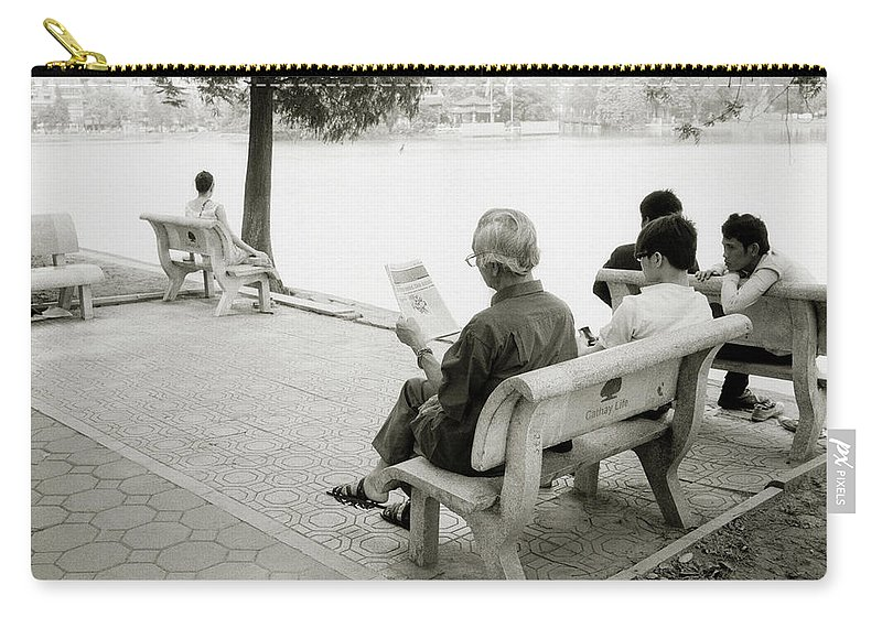 Serenity Carry-all Pouch featuring the photograph Hoan Kiem Lake by Shaun Higson