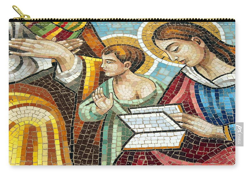 Catholic Carry-all Pouch featuring the photograph Holy Family At Catholic Church by Munir Alawi