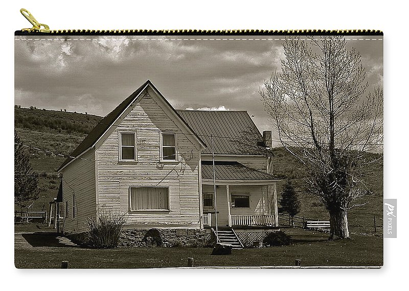 Ranch House Carry-all Pouch featuring the photograph Home For The Cowboy by Eric Tressler
