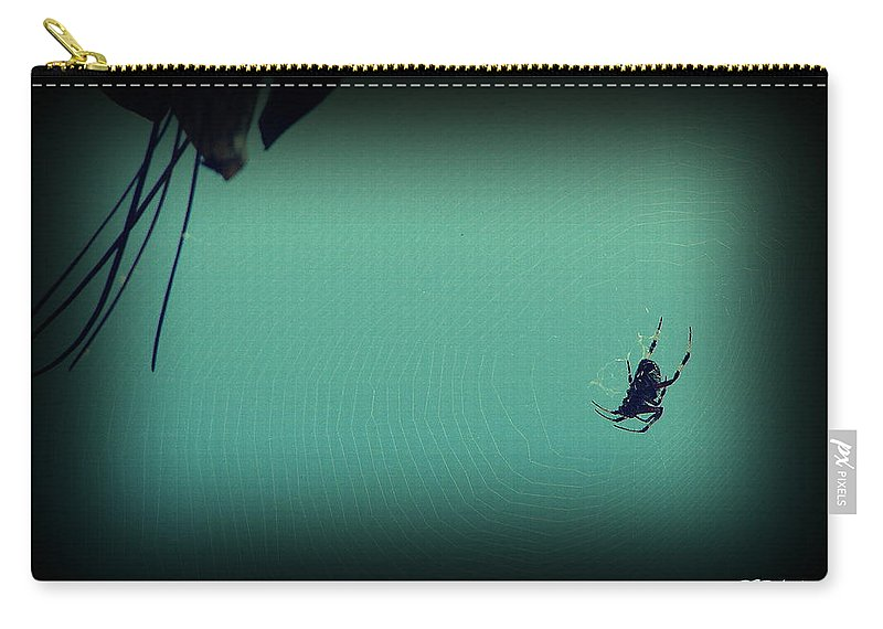Spider Carry-all Pouch featuring the photograph Home Sweet Home by Priscilla Richardson