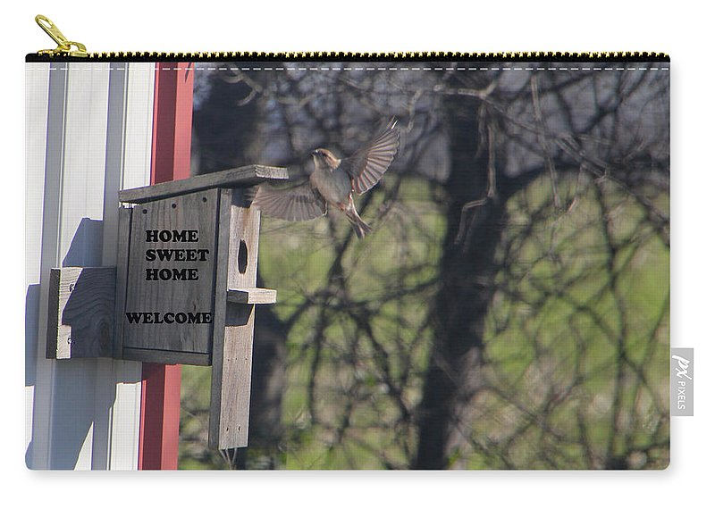Tn Carry-all Pouch featuring the photograph Home Sweet Home-welcome by Ericamaxine Price