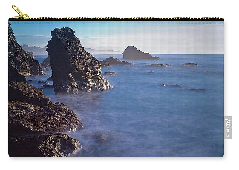 Honda Cove Carry-all Pouch featuring the photograph Honda Cove Waters by Greg Nyquist