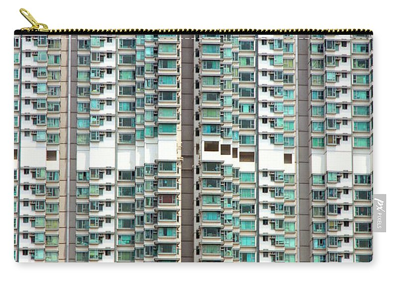 Residential Carry-all Pouch featuring the photograph Hong Kong Residential Building by Valentino Visentini