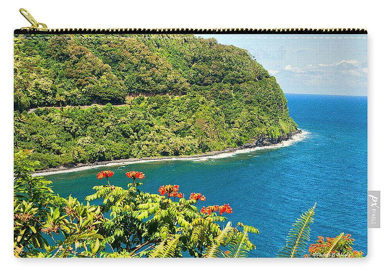 Interior Design Carry-all Pouch featuring the photograph Honomanu The Hana Highway II by Paulette B Wright