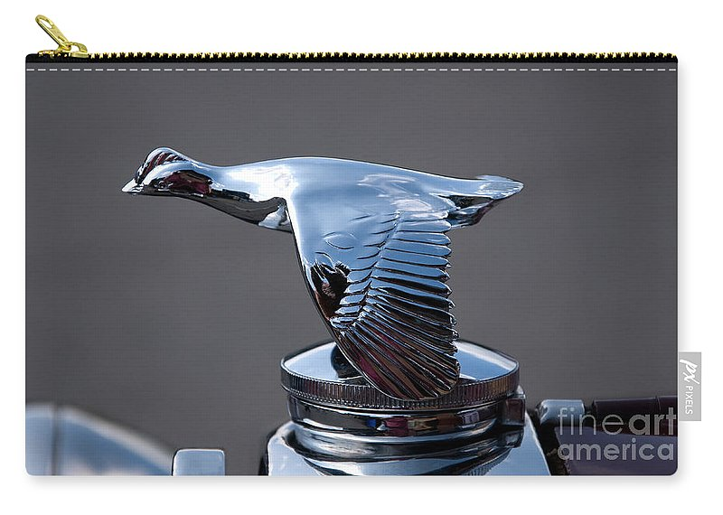 Car Carry-all Pouch featuring the photograph Hood Ornament by Vivian Christopher