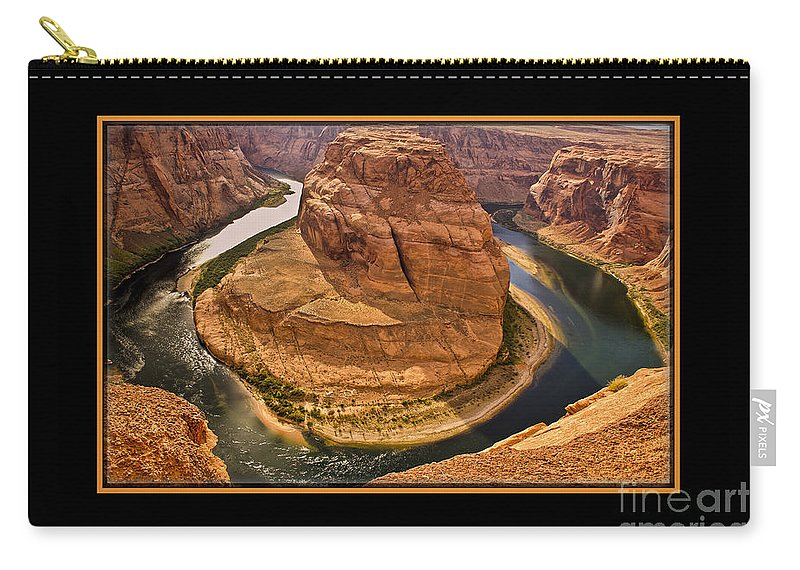 Horseshoe Bend Carry-all Pouch featuring the photograph Horseshoe Bend by Larry White