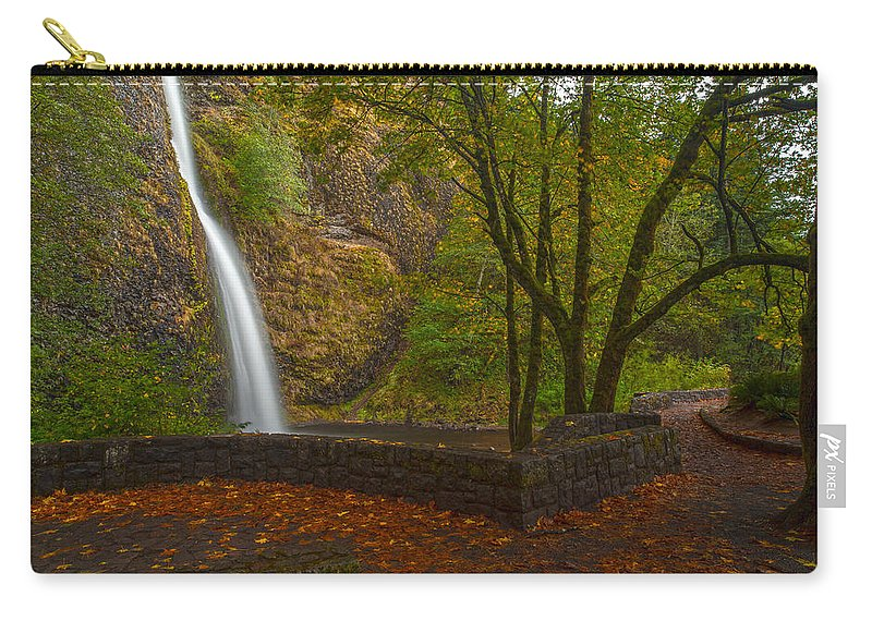 Creek Carry-all Pouch featuring the photograph Horsetail Falls by Mike Reid
