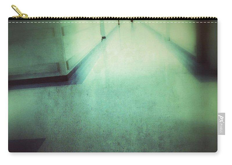 Hospital Carry-all Pouch featuring the photograph Hospital Hallway by Jill Battaglia