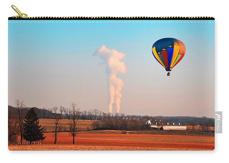 Hot Air Carry-all Pouch featuring the photograph Hot Air Balloon Near Limerick Pa by Bill Cannon