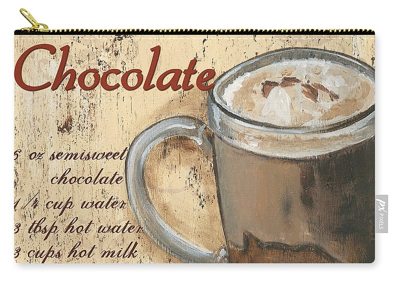 Hot Chocolate Carry-all Pouch featuring the painting Hot Chocolate by Debbie DeWitt
