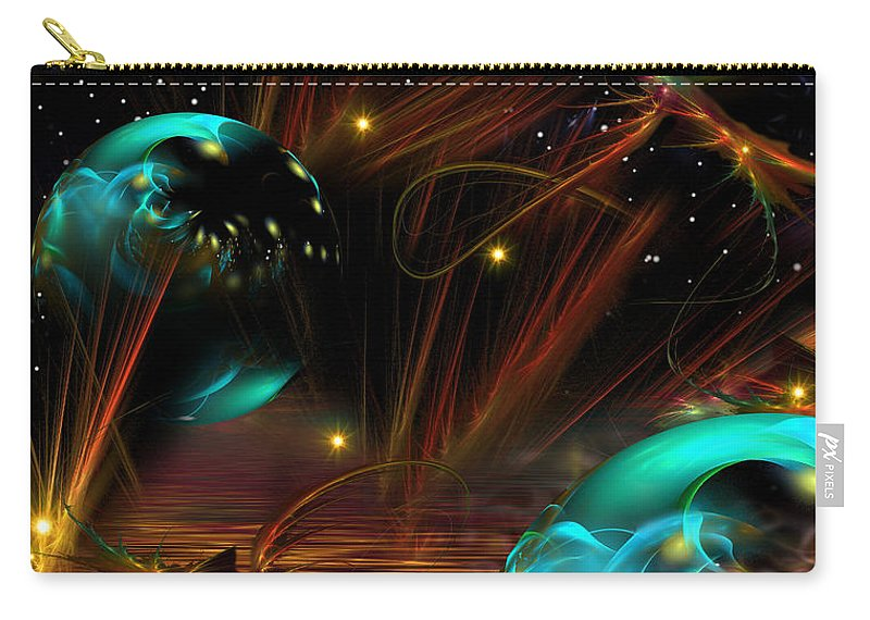 Phil Sadler Carry-all Pouch featuring the digital art Hot Dawg by Phil Sadler