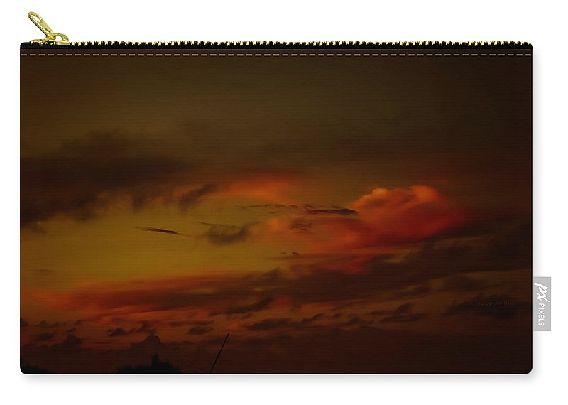 Clouds Carry-all Pouch featuring the photograph Hot Summer Night Sky by DigiArt Diaries by Vicky B Fuller