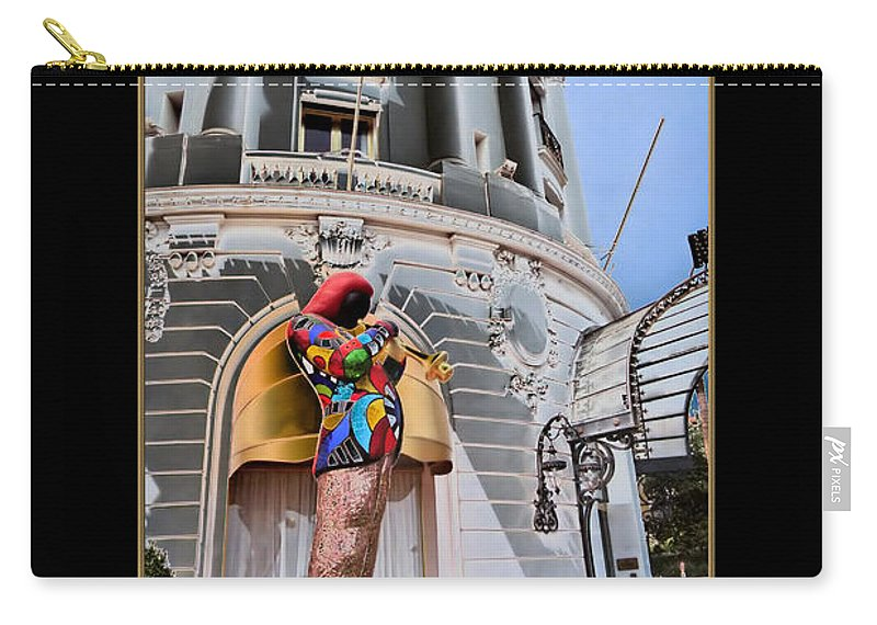 Hotel Carry-all Pouch featuring the photograph Hotel Negresco France by Andrew Fare